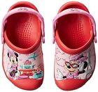 NEW Girls Crocs Minnie Jet Set Clogs Shoes 6/7 8/9 10/11 12/13 Red