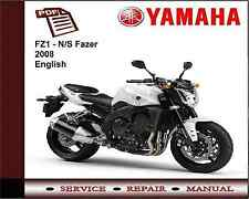 Yamaha Fz1-N/s Fazer 2008 Servicio de Taller reparación Manual