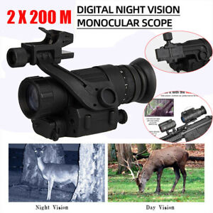 Tactical Hunting Scope Day & Night Vision Telescope For Hunting Wargame 200M