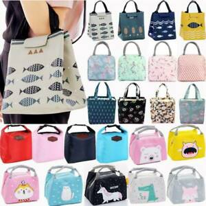 Portable Adult Kids Outdoor Lunch Bags Food Cooler Backpack Insulated Pack Box_