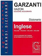 DIZIONARIO INGLESE ITALIANO ITALIANO INGLESE HAZON GARZANTI GRANDE CON CD-ROM