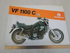 DEPLIANT BROCHURE ORIGINALE HONDA VF 1100 C VF1100C MONOPAGINA