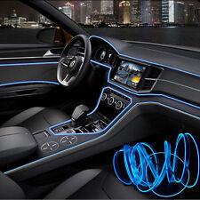 Blue 3M 12V LED Light Glow EL Wire String Strip Rope Tube Car Interior Decor