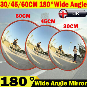 Wide Angle Security Curved Convex Road Mirror Traffic Driveway Safety Outdoor UK