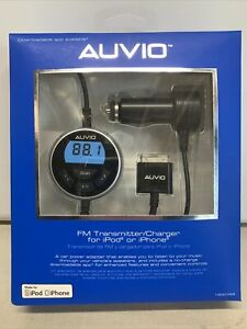 Brand New Auvio FM transmitter/charger for iPod or iPhone