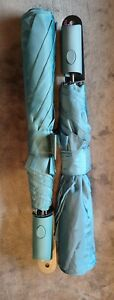 """(2) Misty Harbor Umbrella Auto Open 42"""" Canopy Rubber Coated Handle Teal"""