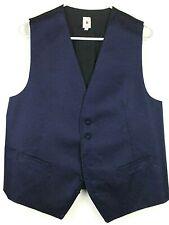 Robert Talbott Protocol Dark Blue & Black Vest Size Large L #A047