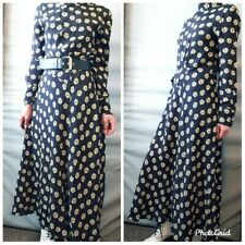 ZARA NEW DAISY PRINT LONG FLOWING DRESS SIZE L
