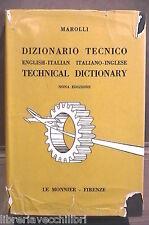 DIZIONARIO TECNICO INGLESE ITALIANO Giorgio Marolli Le Monnier Linguistica di e