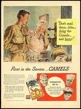 1940s WW2 vintage ad for Camel Cigarettes -291