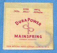 Elgin Watch Mainspring Main Spring 6100 300-1/2 20/0s .0035 .089m/m