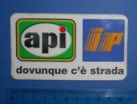 ADESIVO STICKER AUTOCOLLANT API IP ANNI '80 VINTAGE 11X6cm AUTO MOTO TUNING RARO