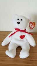 Valentino the Bear | RARE Beanie Baby - 1993 w/Tag & Body Production Errors MWMT