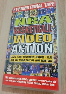 1995 NBA Basketball Video Action Promotional Tape VHS Video Tape *RARE* VHTF