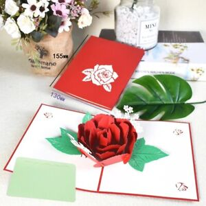Handmade 3D Pop-Up Greeting Card Invitation Gift Card With Envelope