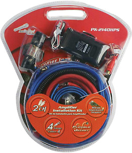 Audiopipe Complete 4 Gauge Amp kit with Line Out Converter