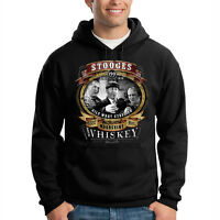 Three Stooges Moonshine Whiskey Comedy Legends Funny Hooded Sweatshirt Hoodie