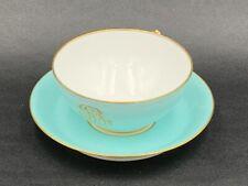 Jules GAUVAIN - Tasse à thé porcelaine de Paris XIXe Antique collector's tea cup