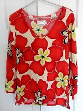 Jams World Limited Edition Rest Red Star Top V-Neck Tunic Multicolor Sz: XS