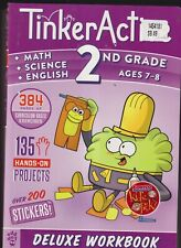 Tinker Active 2nd Grade DELUXE BOOK MATH SCIENCE AND ENGLISH! NO WRITING in book