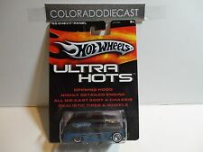 Hot Wheels Ultra Hots Black/Blue '55 Chevy Panel Truck w/Real Riders