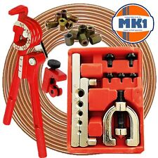 "BRAKE PIPE REPAIR KIT DIY 3/16"" COPPER PIPE + FLARE KIT + CUTTER + 3/8 UNF NUTS"