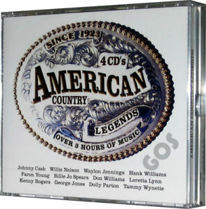 American Country Legends Music Collection 4 CD Jewel Case Box Set 72 Songs New