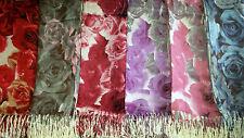 Joblot 12 pcs Rose Flower Design scarf NEW wholesale 70x200 cm lot 35
