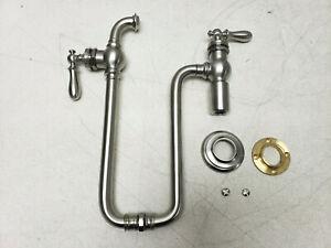 KOHLER K-99270-SN Artifacts 1-Hole Wall-Mount Pot Filler Kitchen Sink Nickel