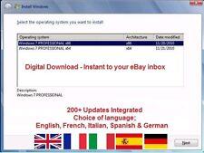 Windows 7 Pro 32/64 bit - 200+ Updates, Multi Language, ISO Digital Download