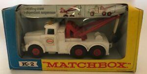Lesney MatchBox K-2 Scamell Heavy Wreck Truck w/Original Window Box