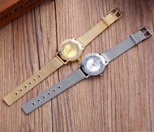Reloj lujo D Q G de mujer cuarzo analógico correa en metal Milanaise malla