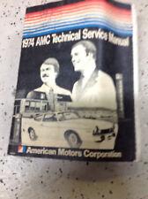 1974 American Motors Amc Gremlin Hornet Matador Javelin Service Shop Manual New