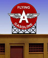 Flying A Gasoline Animated Neon Sign #88-2501 O Scale Miller Engineering