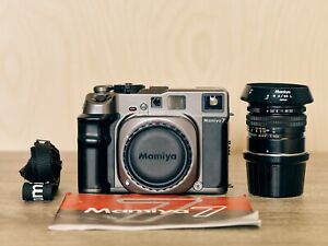 Mamiya 7 Medium Format 6x7 Rangefinder Camera + 80mm F4 lens + Manual + Strap