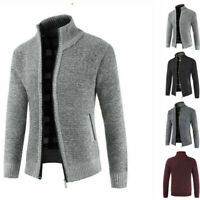 Warm Thicken Coat Sweater Pullover Men's Zipper Casual Winter Knitwear