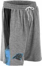Zubaz NFL Football Mens Carolina Panthers Gray Space Dye Shorts