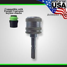 "Snappy Festool Centrotec to 1/4"" Hex Quick Change Chuck Adapter MADE IN USA"