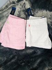 Set Of Two Polo Ralph Laurent Girl Shorts, Sz 12
