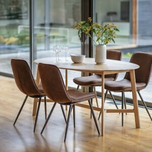 Frank Hudson Gallery Direct Madrid Oak Oval Dining Table