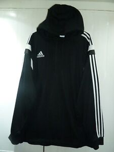 Men's Black Hoodie by Adidas in Size XL