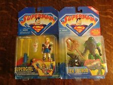 SUPERMAN THE ANIMATED SHOW TOY LOT 1996 SUPERGIRL LEX LUTHOR MOC DC COMICS