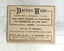 1954 Daleys Hotel Grimsby Road Cleethorpes Mr And Mrs Eastwood