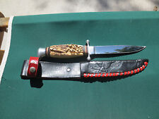 "Hygrade Cutlery Solingen Stag Hunting Knife With Sheath 5""blade"