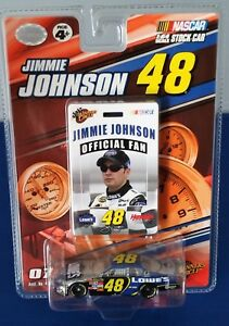 2007 Winners Circle #48 Jimmie Johnson with Fan Badge Pass 1:64 Lowe's Chevy SS