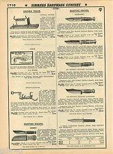 "1935 ADVERT Kinfolks Simmons Hunting Knife Knives Extra Heavy Duty 5"" Blade"