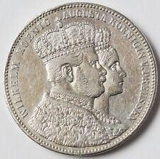 Krönungsthaler 1861 Preussen Wilhelm I. Thaler Taler Krönungstaler