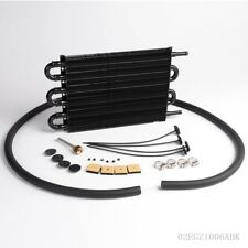 6 Row Radiator Remote Aluminum Transmission Oil Cooler + Hose / Mounting Kit