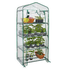 4 Tier Portable Mini Greenhouse W/ Clean Cover Garden Plant Warm House-GreenWise