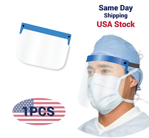 SAFETY FULL FACE SHIELD CLEAR VISOR SHOP MEDICAL DENTAL DUST PROOF USA STOCK!!!